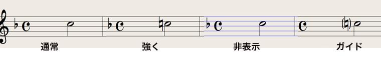 Logic7 スコアウィンドウ › ナチュラル記号