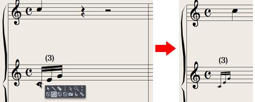 Logic7 スコアウィンドウ › 装飾的アルペジオ