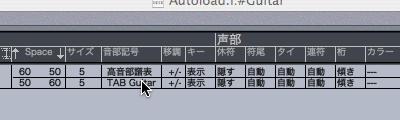 Logic7 スコアスタイルにある音部記号の項目