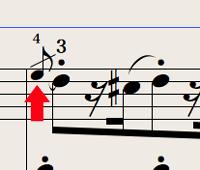 Logic7 スコアウィンドウ › 前打音の装飾音符