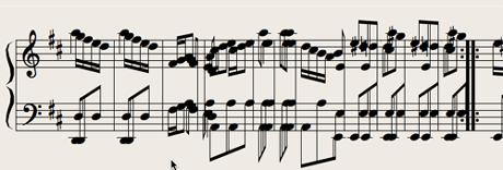 Logic7 スコアウィンドウ › 小節が密集