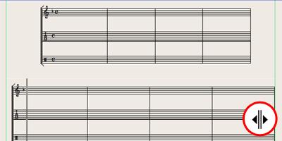 Logic7 スコアウィンドウ › レイアウトツールで余白を調整