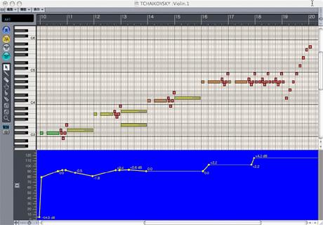 Logic7 マトリクスウィンドウ(ピアノロール)