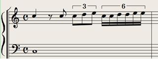 Logic7 スコアウィンドウ › 複合クオンタイズの表示例