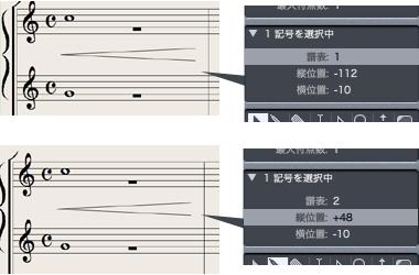 Logic7 スコアウィンドウ › イベントパラメータで記号の情報を確認